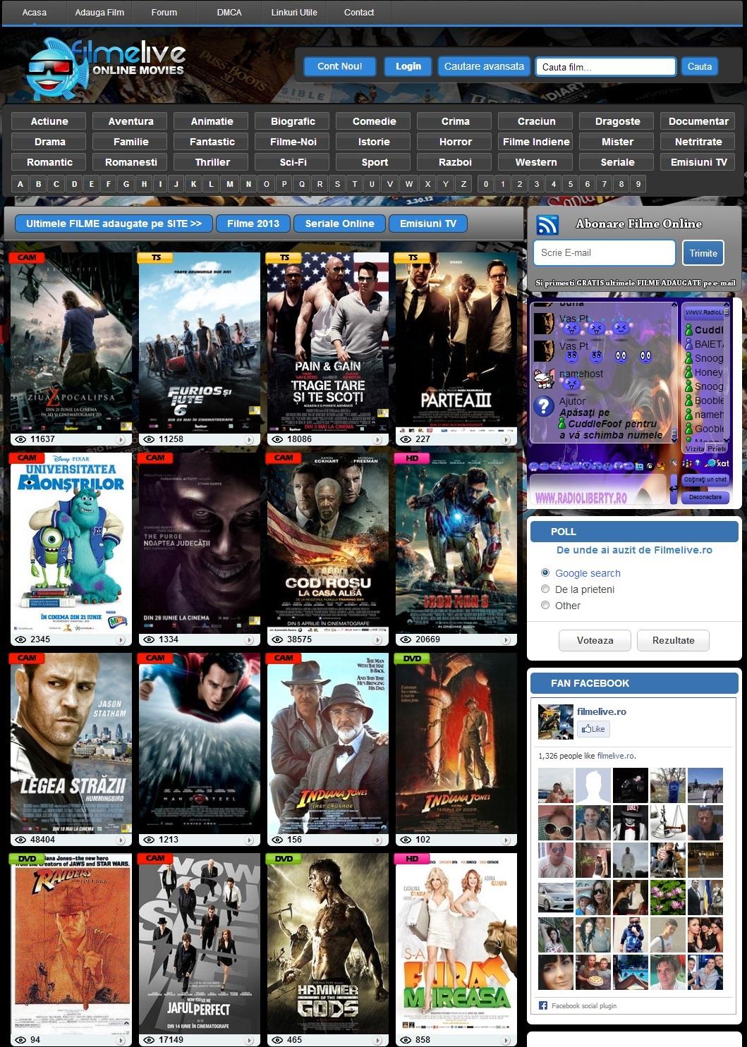 Website Filme (filmelive.ro)
